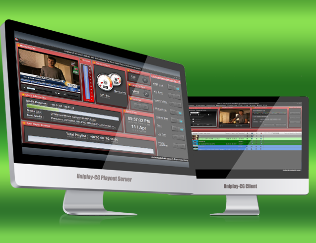 Uniplay-CG - Playout Server and Client User Interface